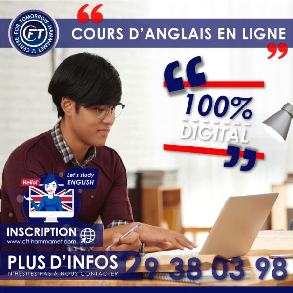 Cours d'anglais général en ligne
